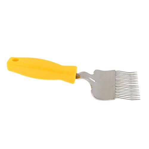 FLAMEER Outil pour Le Miel D'apiculture De Fourche De Grattoir De Peigne De Peigne De Dents d'acier Inoxydable