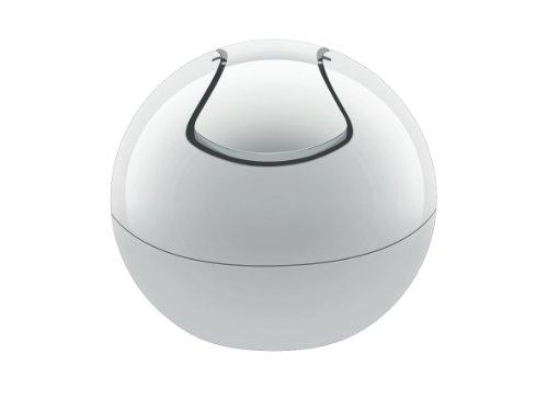 Spirella Kosmetikeimer 1 Liter Abfalleimer Schwingdeckeleimer Tischabfalleimer Bowl Weiß