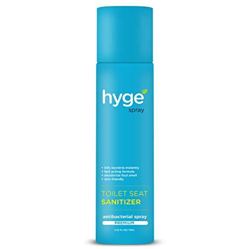 Hyge Anti-Bacterial Toilet Seat Sanitizer Spray- 75 ML (Premium Pack)