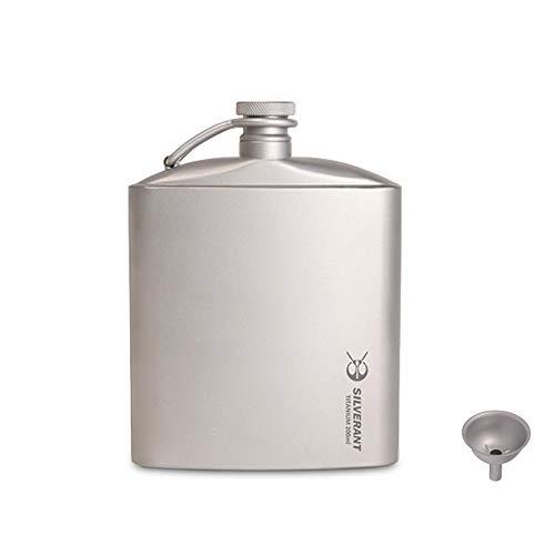 SILVERANT Titanium Ultralight 200ml/6.76 fl oz Hip Flask with Screw