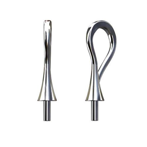 My-Bead 2 piezas trabillas para colgante arco 16mm perno Ø 1mm Plata de ley 925 Pinzas pendientes para collares DIY