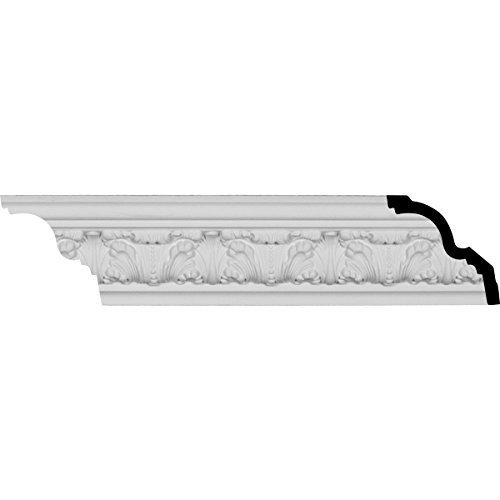Ekena Millwork MLD03X04X04CO 3 1/4-Inch H x 3 1/2-Inch P x 4 7/8-Inch F x 96 1/8-Inch L 4 7/8-Inch Repeat Colton Acanthus Crown Moulding by Ekena Millwork