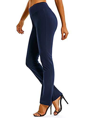 FITTOO Damen Bootcut Yogahosen Straight-Bein-Jogginghose Ausgestelltem Bein Yoga Hose Blau XL
