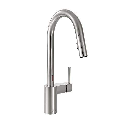 Moen 7565EC Align Motionsense Two-Sensor Touchless One-Handle High Arc Modern Pulldown Kitchen Faucet with Reflex, Chrome