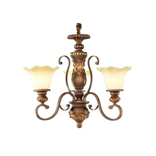 Yadianna Wall Lamp Outdoor Wall Lamp Iron Retro Lounge Aisle Nostalgic Model Lamp French Wood Double Room - Head Candle Wall Lamp