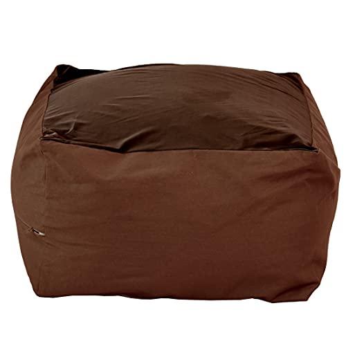 ビーズクッション 選べる3サイズ 人をダメにするソファ 極小ビーズ クッション ジャンボ 極小 マイクロビーズ 洗えるカバー ソファ 座椅子 ビーズ(ブラウンBR, Lサイズ)