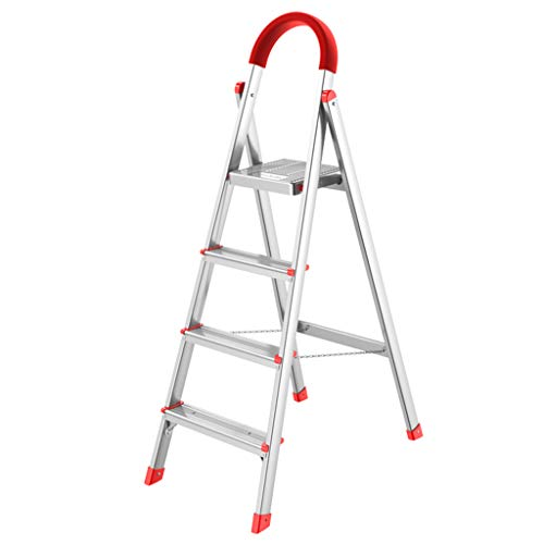C-J-Xin Interieur Decoratie Ladder, Vier Stap Ladder Metalen Fold Ladder Outdoor Engineering Ladder Huishoudelijke ladder