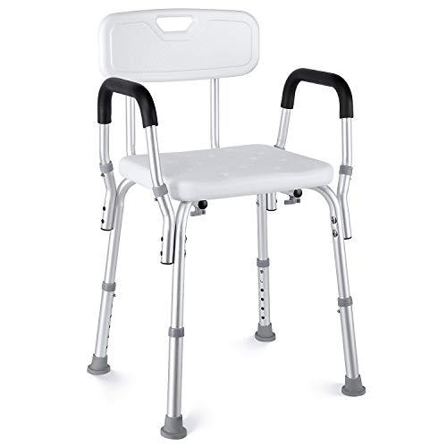 HAIRBY Duschstuhl Badehocker, mit Verstellbarer medizinischer Badesitz, für Behinderte, Senioren und ältere Menschen mit Rutschfester Badewanne Badestuhl