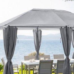 Hespéride Toile de Remplacement Ardoise pour tonnelle Santorini