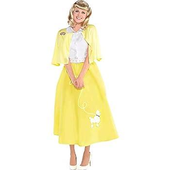 amscan Grease Sandy Olsson Summer Nights Costume Set Large  10-12 - 3 pcs Yellow