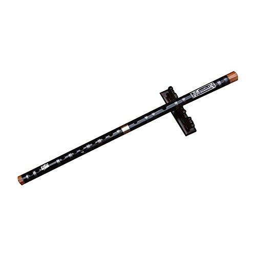 (ジ-ライク)G-like 自然 高級 笛 尺八 楽器 苦竹 横笛 中国伝統的な楽器【C調からG調まで選択可能】 (Fキー52cm, ブラック)