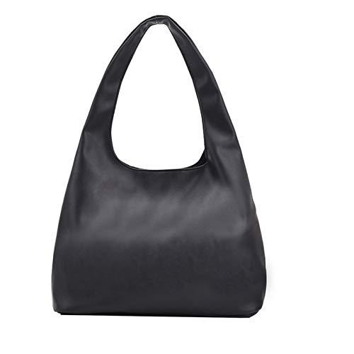 SRXSMGS Borsetta Donna  Borsa a Tracolla a Spalla di Colore Solido Semplice per Donna (Color : Black, Size : 34cmx26cmx13cm)