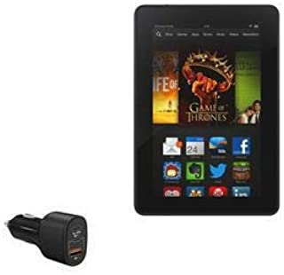 Carregador de carro para Kindle Fire HDX 7 (3ª geração 2013), BoxWave [SwiftCharge PD QC4.0 Carregador para carro Plus (60...