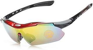 GR Mens Night Vision Metal Frame Goggles Car Night DrivingSunglasses Men Anti-Glare (Color : Red)