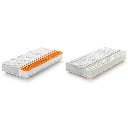 Marcapiuma - Materasso Singolo Memory Bio 80x190 Alto 22 cm - Rainbow Plus & Materasso Singolo Memory 80x190 alto 22 cm - RAINBOW - Grado Rigidita