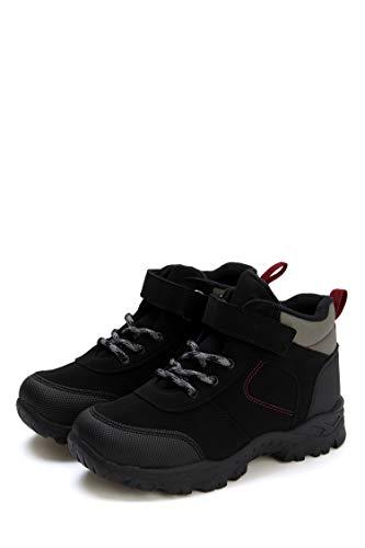 DeFacto Junge Winter, Regen und Wanderschuhe Für Jungen, Schneeschuhe für Jungen, Wasserdichte Jungen Stiefel (SCHWARZ, 34)