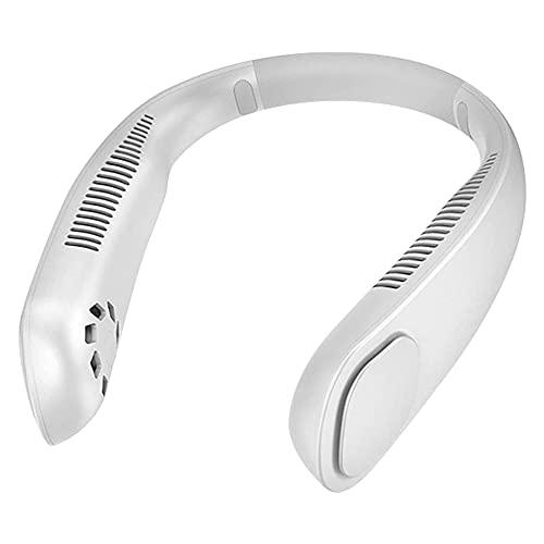 Ventilador de cuello sin aspas, ventilador personal de manos libres Mini USB portátil con banda para el cuello Ventilador deportivo con batería de 9000 mAh, ajustable en 3 velocidades, adecuado para t