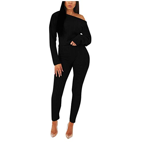 FRAUIT Completo da Donna Elegante Pantaloni Ragazza Vita Alta Tumblr + Maglia Manica Lunga Pantalone Donna Elegante Curvy Magliette Maniche Lunghe Camicetta Camicia Camicie Primaverile