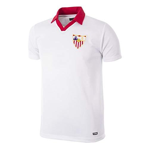 copa FC Sevilla Retro Trikot 1980/81 weiß, XXL