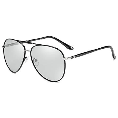 Gafas de Sol Sunglasses Gafas De Sol Clásicas De Piloto para Hombre, Gafas De Sol Polarizadas De Moda con Espejo, Gafas De Sol para Conducir con Revestimiento Azul, Gafas