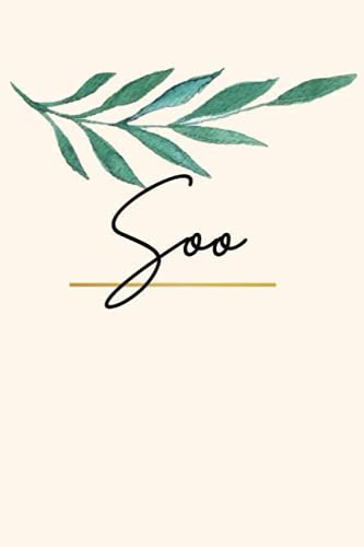 Soo: Sketchbook Personalized for Soo Journaling and Drawing, Doodle Sketch, 120 blank Pages
