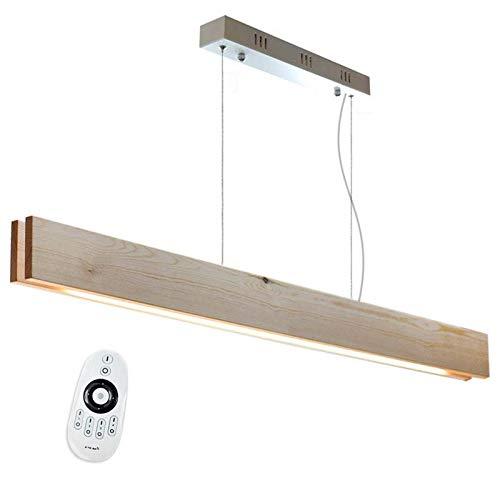 Lámpara colgante LED WOOD XL SUSPEND, 30W, DUAL, Blanco dual, Regulable. Lámpara techo para salón, Lámpara LED Dormitorio, Lámpara LED Moderna. Lámpara LED habitación