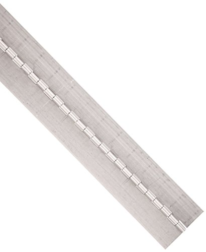 RMP Aluminum Continuous Hinge, 2' Open, 72' Length.075 Gauge.1875 Pin Diameter, No holes, Unfinished