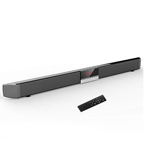 GJJSZ Barra De Sonido Bluetooth Altavoces Inalámbricos Portátiles De 87 Cm para Sonido Envolvente De Cine En Casa con Subwoofers Incorporados para TV/PC/Teléfonos/Tabletas con Control Remoto