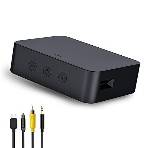 Greatzer Bluetooth Transmitter,Bluetooth Adapter Audio 5.0 für TV PC Wireless Sender mit Lautstärkeregler,aptX Low Latency,HiFi Lautsprechersystem (Optical/3.5mm AUX/Koaxial/USB Kabel, TF-Karten-Slot)