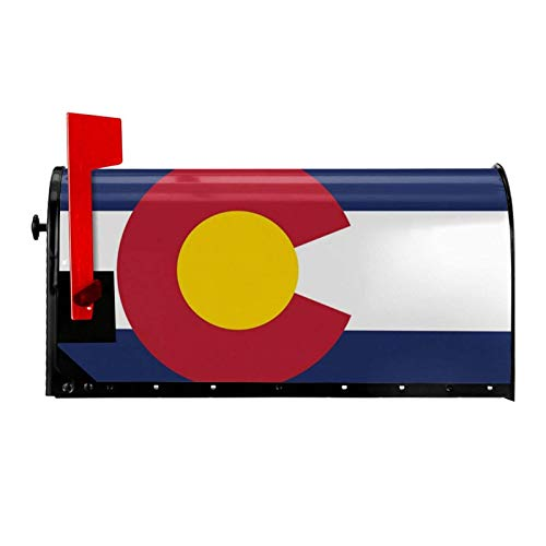 HUREA Colorado State Flag USA Mailbox Covers Magnetic Mail Wraps Cover Letter Post Box 21x18 in