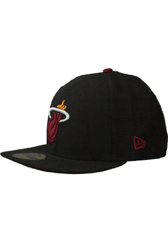 New Era 59Fifty Patched Team Miami Heat 5950 Cap (Size 7 / 55.8cm)