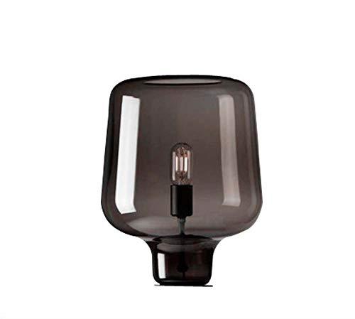 Brown Glas Tischlampe, Nordic Retro Persönlichkeit Kreative Minimalist Dekorative Tischlampe, Geeignet Für Nacht Study/Schlafzimmer/Wohnzimmer, D28CM * H42CM