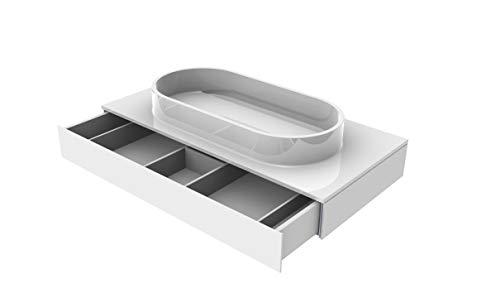 EMCO ASIS Waschtisch, mit Armaturenbohrung (M-guss) mit Schublade, 1015mm, schwarz, HSN 957727516