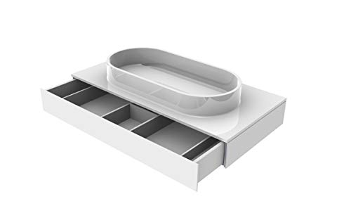 EMCO ASIS Waschtisch, ohne Armaturenbohrung (M-guss) mit Schublade, 1015mm, schwarz, HSN 957727511