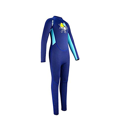 pengweiTraje de Neopreno para Ni?os Ni?os Ni?as Back Zipper Shorty Ni?os Wetsuits-UV Protecci¨®n, 1, L