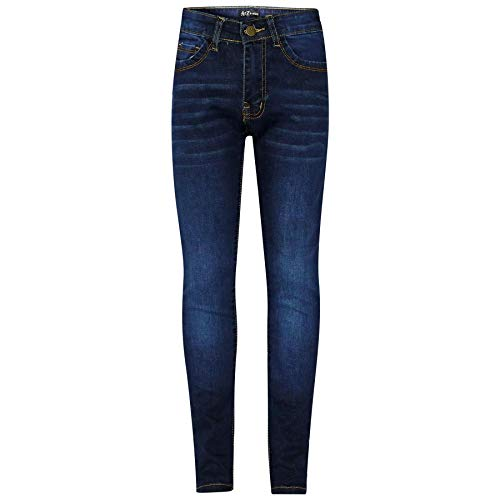 A2Z 4 Kids® Kinder Mädchen Dünn Jeans Designer Denim - Girls Jeans JN25 Dark Blue 5-6