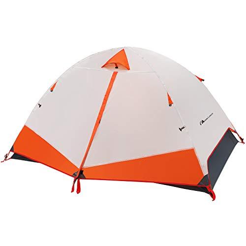 Moon Lence テント 2人用 アウトドア用 自立式 二重層 コンパクト 超軽量2.35kg PU2000mm アルミ合金ポール キャンプ 防災 組立簡単 通気