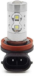 PartsSquare H8 H9 H11 DRL Daytime Running Light Bulbs 12LED 1100 Lumen Built in High Power Seoul 3030 SMD 60W 6000K White LED Bulbs (Pack of 2 PCS)