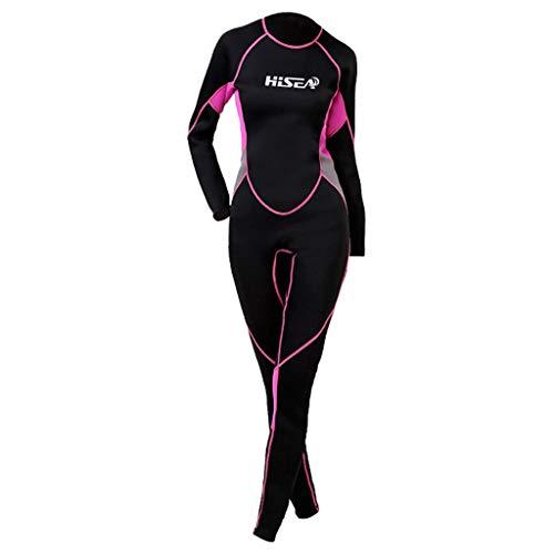 Overmal Damen Ganzkörperansicht Badeanzug Overall Wetsuit, Frauen Premium Neopren 2.5 mm Sunblock Neoprenanzug für Tauchen Surfen Schwimmen Ganzkörper, Rash Guard Badeanzug Badebekleidung