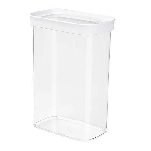 Emsa 513559 Stapelbare Vorratsdose für Trockenvorräte, 2,2 l, weiß/transparent