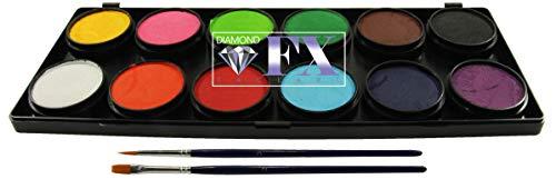 Face Paint Palette by Diamond FX (Essential 12 Colors) by Diamond FX