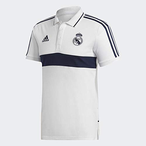 adidas Performance Real Madrid Poloshirt Herren weiß/dunkelblau, S