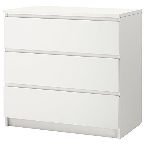 IKEA(イケア) MALM ホワイト 20214552 チェスト(引き出し×3)、ホワイト