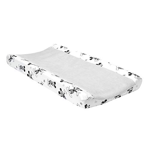 Lambs & Ivy Disney Baby Magical Mickey Mouse Changing Pad Cover - Gray