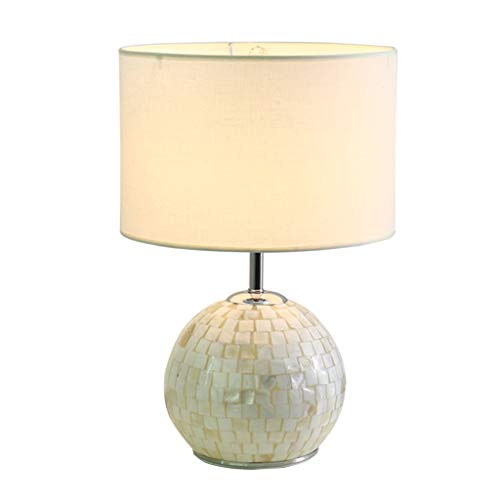 Home Kreativität-Tischlampe Schreibtischlampe Licht Muschel Lampe Stoff Einfacher Schutz Augenstudie Schreibtischlampe Weißes Schlafzimmer Esszimmer Wohnzimmer Arbeitslampe Tisch Schreibtisch Leselam