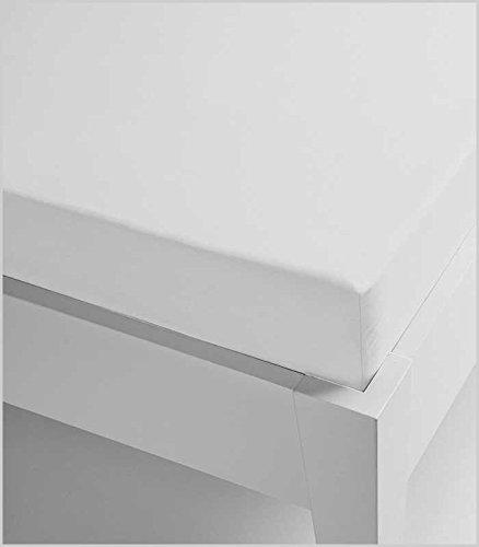 Miracle Home Sábana Bajera, Ajustable Elástica, Suave y Cómoda, Algodón 50% Poliéster, Blanco, 105 x 200 cm