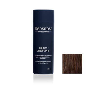 Poudre densifiante (Chatain) - Perte de Cheveux - Anti Calvitie et Alopécie - Poudre Capillaire Densifast Professionnel - Microfibres de Kératine Naturelle -...
