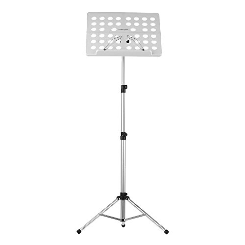 ammoon Hoja Plegable Partitura de Música Flanger FL-05R Soporte Trípode Aleación de Aluminio con Resistente al Agua Bolsa de Transporte para Orquesta Violín Piano Guitarra Rendimiento del Instrumento