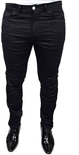 Pantaloni Uomo Battistini Jeans Nero calibrato Taglie Forti Casual Regular Fit Made in Italy (64)