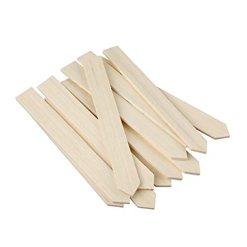 KINGLAKE 50 STK Pflanzenschilder Holz Pflanzenstecker zum Beschriften 15 cm, Stecketiketten Holz für Pflanzen, Etiketten Garten Holz